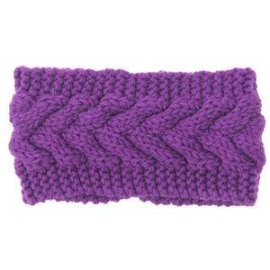 NEW Purple Knit Crochet Headband Ear Warmer